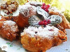 Oliebollen (holland fánk), ha én tudtam volna, hogy ez ilyen finom! - Egyszerű Gyors Receptek French Toast, Muffin, Food And Drink, Baking, Breakfast, Cake, Recipes, Holland, Morning Coffee