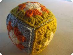 Small Granny Square Crocheted Ball