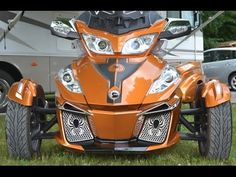 RT Can Am Spyder - New stainless steel Front grills installation - Spyder TV - YouTube