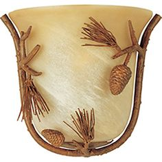 Pyramid Creations Pine Grove 10.5-in W 1-Light Pocket Hardwired Wall Sconce