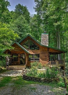 Old Cabins, Log Cabin Homes, Cabins And Cottages, Cabins In The Woods, Log Home Designs, Getaway Cabins, Timber House, Home Upgrades, My Dream Home