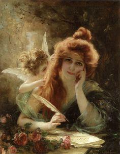 Gabriel Joseph Marie Augustin Ferrier- The Love Letter(oil on canvas)