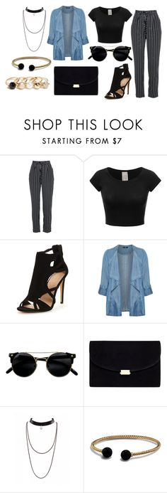 """""""Untitled #2844"""" by ana-rodrigues-1 ❤ liked on Polyvore featuring Evans, David Yurman and GUESS"""