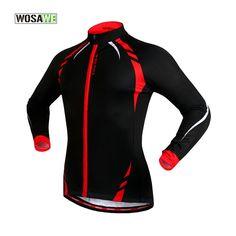 32.23$  Buy here - http://aliqqr.shopchina.info/go.php?t=32666958852 - WOSAWE Cycling Clothing Fleece Themal Cycling Jersey Bike Jacket Full Sleeve Pocket MTB Downhill Top Coat Bicycle Clothes 50  #magazineonlinewebsite