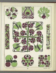 [Decorative designs.] Henrik Gillett, Vignettes decorative dans le gout du jour. Pl 20. NYPL digital gallery