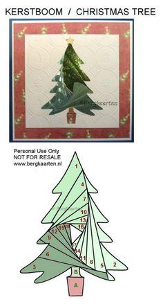Iris Folding: Christmas Tree