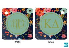 Kappa Delta Sorority Key Chain/ Bag Tag with Monogram/ Big/ or Little on back! @newbeginningdesigns.com
