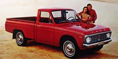 In the early 1970s, the Ford Courier name was applied to a compact pickup, manufactured by Mazda called the Mazda B-Series. It had greater fuel economy than the full-size pickups of the time. #Ford #cars #VintageAutomobiles