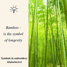 Symbols in embroidery  #Bamboo - is the symbol of longevity ---------------------------------  #abaloriosart #craft #crafts #crafty #artesania #bordado #abalorios #embroidery #beads #beadwork #handmade #picture #pictureoftheday #cute #beautiful #love #art #style #color  #crossstitch #symbols #tips #advice #ideas #justsaying #thoughts #green #nature