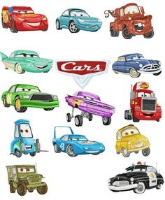 Pixar Car - 42 designs - Free Machine Embroidery Designs Download