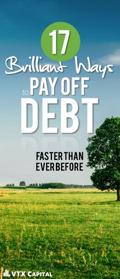 Goal: Pay Off Debt in 2017. Here are 17 brilliant ways to get it done. Get out of debt | Personal Finance Tips | Side Hustles for Paying Off Debt