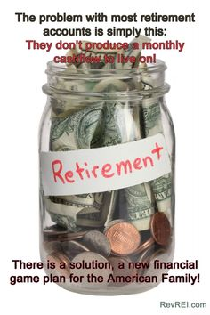 There's a problem with our #retirement accounts...they don't produce a monthly #cashflow.