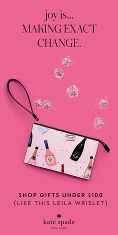 gifts $100 and under that'll bring a big smile to their face. shop the holiday gift guide. Holiday Gift Guide, Holiday Gifts, Nurse Mates, Kate Spade Designer, Email Design, Up Styles, Fashion Handbags, Purse Wallet, Designing Women