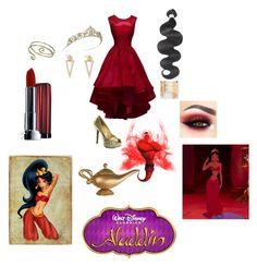 """""""Jasmine...Jafars spell"""" by marshmallowkisses ❤ liked on Polyvore featuring MANGO, Sweet Romance, Ileana Makri, Maybelline and Disney"""