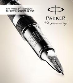 Ingenuity Parker pen 2011 Parker line. Graf Von Faber Castell, Sheaffer Fountain Pen, Fancy Pens, Luxury Pens, Pen Collection, Pen Design, Best Pens, Fountain Pen Ink, Pen And Paper
