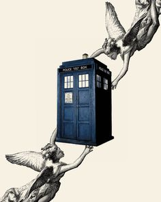 Dr. Who Tardis Angels Doctor Who Tardis by TheBeaconPrintShop