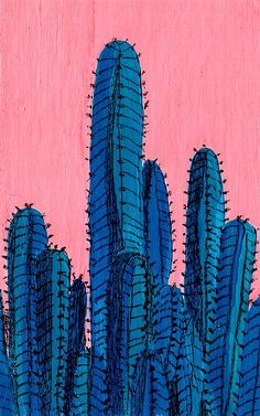 Blue Cactus by juliealex