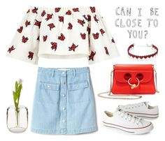 """Can I be close to you? "" by helloume ❤ liked on Polyvore featuring Gap, House of Holland, Converse, J.W. Anderson and Simons"