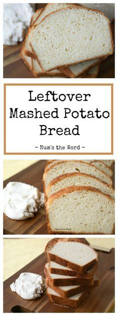This Leftover Mashed Potato Bread is a great way to use up your leftover mashed potatoes! Use any flavor of mashed potatoes and it will always turn out great! #bread #homemadebread #mashedpotatoes #leftovers #leftovermashedpotatoes #thanksgiving #christmas #easter #yeastbread #potatobread #potatoes #rolls #sidedish #easy #numstheword #recipe