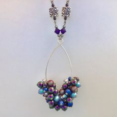 Cathryn Jakicic's Wrapped Loops Beyond the Basics | Wire Jewelry Design Wire Jewelry Patterns, Wire Jewelry Designs, Diy Jewelry Findings, Enamel Jewelry, Swarovski Crystal Beads, Swarovski Pearls, Jewelry Making Tutorials, Jewellery Making, Handmade Beads