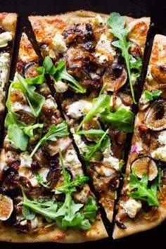 This fig caramelized onion pizza is full of flavor and ready in no time. You'll love all this flavor packed pizza and be craving it all. fall. long.