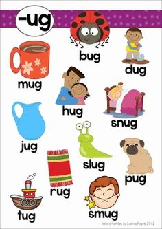 Word Family Posters (short vowel CVC and CCVC).
