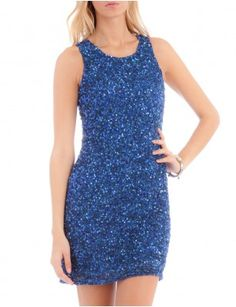 Aftershock Dresses-DRISANA fully embellished mini dress (also in navy, black, pink, and white!) - £180.00