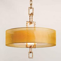 Link Drum Chandelier.  This is fabulous.