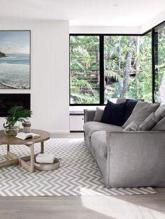 Modern Coastal House Nestled in the Lush Australian Rainforest 3 Interior Design Examples, Interior Design Inspiration, Decor Interior Design, Interior Decorating, Decorating Ideas, Design Ideas, Decor Ideas, Coastal Bedrooms, Coastal Living Rooms
