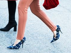 58 Trendy Ideas How To Wear Heels Without Pain Fashion Shoes Over The Top, Jessie, Lace Up Heels, High Heels, Blue Heels, Trendy Outfits, Fall Outfits, Summer Outfits, Blush Wedding Shoes