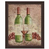 Found it at Wayfair - Wine Bottles Framed Painting Print