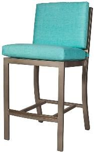 Manhattan Outdoor Barstool-Available in a Variety of Finishes. Product in photo is from www.wellappointedhouse.com