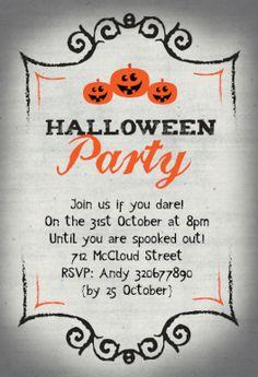 Halloween Party - Free Printable Halloween Invitation Template | Greetings Island