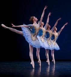 Ballerina's in blue...