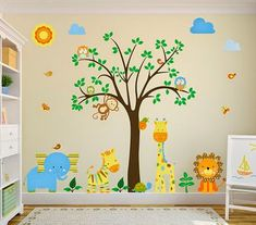 Choosing the right kind of playroom furniture is as daunting as choosing the right food for your kids. Check out the adorable playroom furniture that we have round off for you. Baby Bedroom, Baby Boy Rooms, Baby Room Decor, Girls Bedroom, Kids Rooms, Colorful Playroom, Playroom Furniture, Tree Wall Decor, Nursery Wall Decals