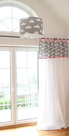 Gardinen & Vorhänge - Vorhang, Wolken grau/weiß 140 x 250 cm - ein Designerstück von MaruMaru bei DaWanda