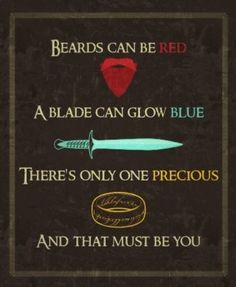 "Ladies and gentlemen: the quintessential core of ""Talk Nerdy To Me""!  Lord Of The Rings pickup line"