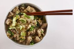 Brown Rice Bowl with Ginger-Lime Chicken and Bok Choy | 31 Healthy Ways People With Diabetes Can Enjoy Carbs
