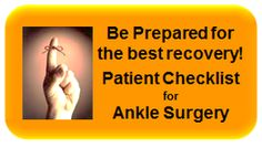 Patients Ankle surgery checklist