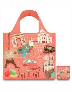 d8b6ad79bcb LOQI Urban Paris Reusable Shopping Bag, Multicolored Weekender, Reusable  Bags, Reusable Shopping Bags