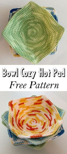 Bowl Cozy Hot Pad – Free Pattern Bowl Cozy Hot Pad – Free Pattern,Christmas – DIY giving amysastitchatatim… Is the actual link. There are images of the best DIY designs in the world. Crochet Bowl, Knit Or Crochet, Crochet Gifts, Free Crochet, Things To Crochet, Easy Crochet, Yarn Projects, Knitting Projects, Knitting Patterns
