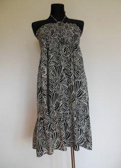 Kup mój przedmiot na #vintedpl http://www.vinted.pl/damska-odziez/krotkie-sukienki/10442103-ms-sukienka-letnia-zebra-rozkloszowana-38-40-42