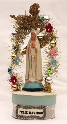 Metaphysical Gifts, Cards, Wrap and Crystals | Life Is A Gift Shop - Feliz Navidad Holy Mother Candy Box - handmade work of art, $10.00 (http://lifeisagiftshop.com/feliz-navidad-holy-mother-candy-box-handmade-work-of-art/)
