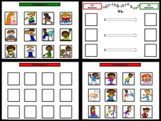 """SOCIAL SKILLS~ Behavioral Support Activities: Sample pages. """"NO Behaviors vs. GO Behaviors!"""" This pack includes 6 ways to work on teaching appropriate behaviors to children who struggle to understand what is or is not okay to do when feeling upset."""