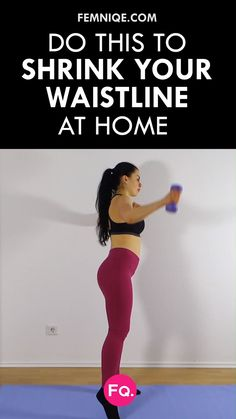 Fitness Want a smaller waist? Start adding these moves to your ab workout. For this move, it's going to mainly target your obliques, upper body and thighs. Your glutes will also benefit from this compound movement Fitness Workouts, At Home Workouts, Fitness Motivation, Workout Women At Home, Workout Videos For Women, Exercise Videos, Body Workouts, Hourglass Figure Workout, Small Waist Workout
