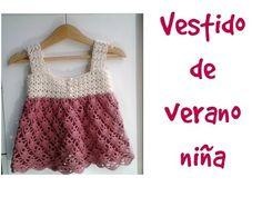 Vestido de verano a crochet para niña #tutorial - YouTube