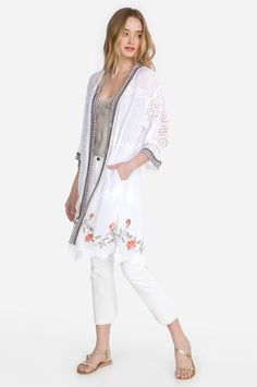 Resort Style, Johnny Was, Boho Chic, Kimono, Bell Sleeve Top, Elegant, Tees, Fabric, Jackets