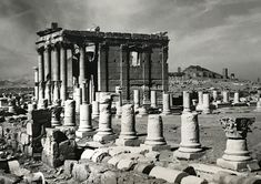 This ca. 1950 photograph of a temple and colonnade in the UNESCO World Heritage Site of  Palmyra (https://archnet.org/sites/14868?utm_content=buffer81074&utm_medium=social&utm_source=pinterest.com&utm_campaign=buffer) in Syria is from the archive of Swiss archeologist Paul Collart https://archnet.org/collections/1383?utm_content=buffer2b6c8&utm_medium=social&utm_source=pinterest.com&utm_campaign=buffer
