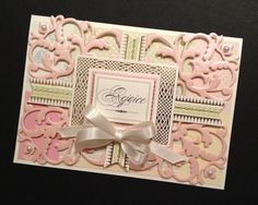 Christian Easter Card with Fancy Shabby-Sweet Pastel Floral Anna Griffin Papers