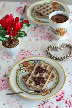 Waffel light {senza burro e uova} | Vegan waffle recipe